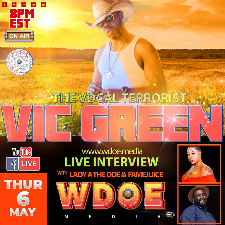 LIVE Interview: The Vocal Terrorist Vic Green