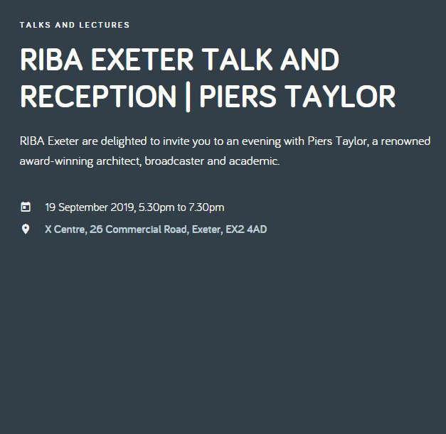 RIBA Exeter talk and reception
