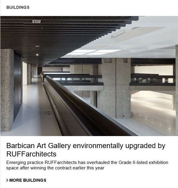 Barbican Art Gallery featured in AJ