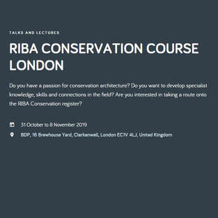 RIBA Conservation Architecture Course