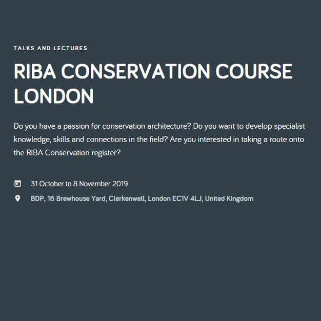 RIBA Conservation Architecture Course