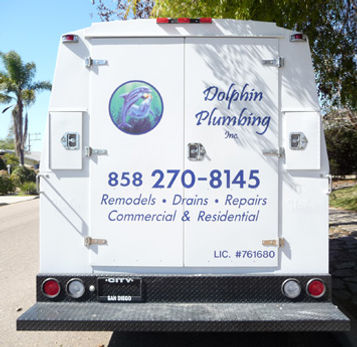 Dolphin Plumbing Service Vehicle
