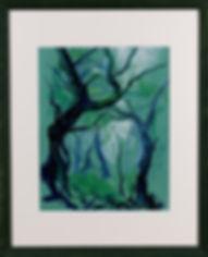 Foret, pastel, Anna Wode, art, Kunst