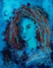 Arc en ciel, Anna Wode, art, Kunst, blue line, blue