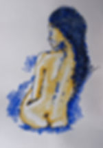 Anna Wode, painting, peinture, Bild, Sara, mixte line