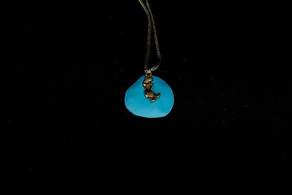 Bijoux, bijoux fantaisie, jewellery, Sirene, Sirène, mermaid, pendentif, shy, Anna Wode, bleu, blue
