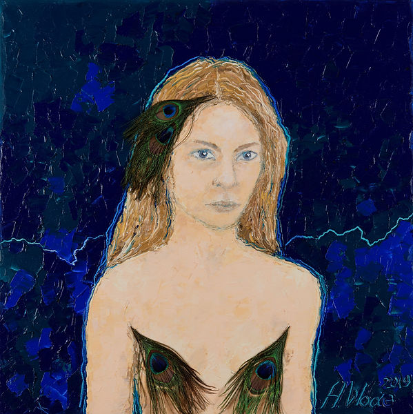 Anna Wode, art, kunst, contemporary, autoportrait, selfportrait