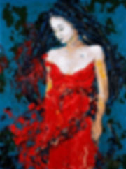 Red bride, Anna Wode, art, Kunst