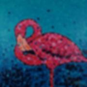 Anna Wode peinture painting art flamant