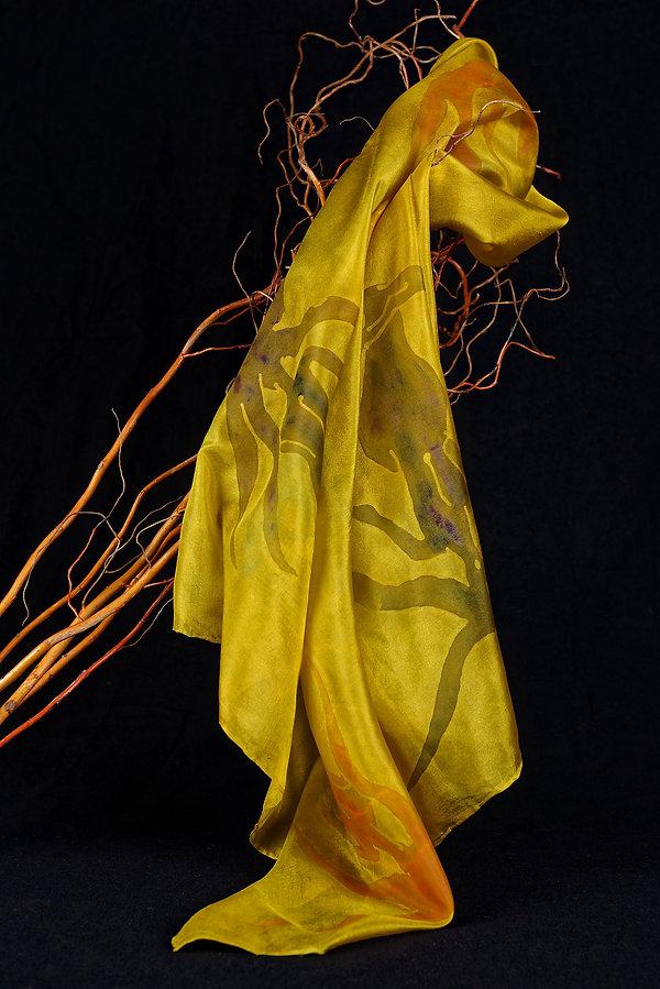 Batik, silk soie, foulard, mermaid, Sirene, Sirène, Anna Wode