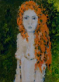 Anna Wode, painting, peinture, Bild, Lucie, mixte line