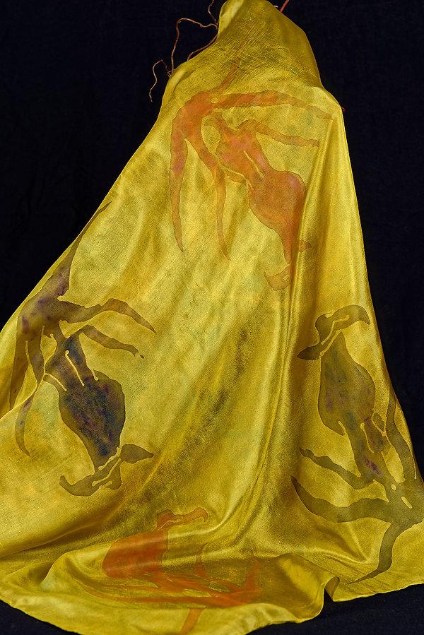 Batik, foulard, soie, silk, mermaid, Sirene, Sirène, Anna Wode