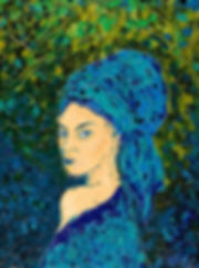 Anna Wode, mixte, Fille au turban, art, contemporary