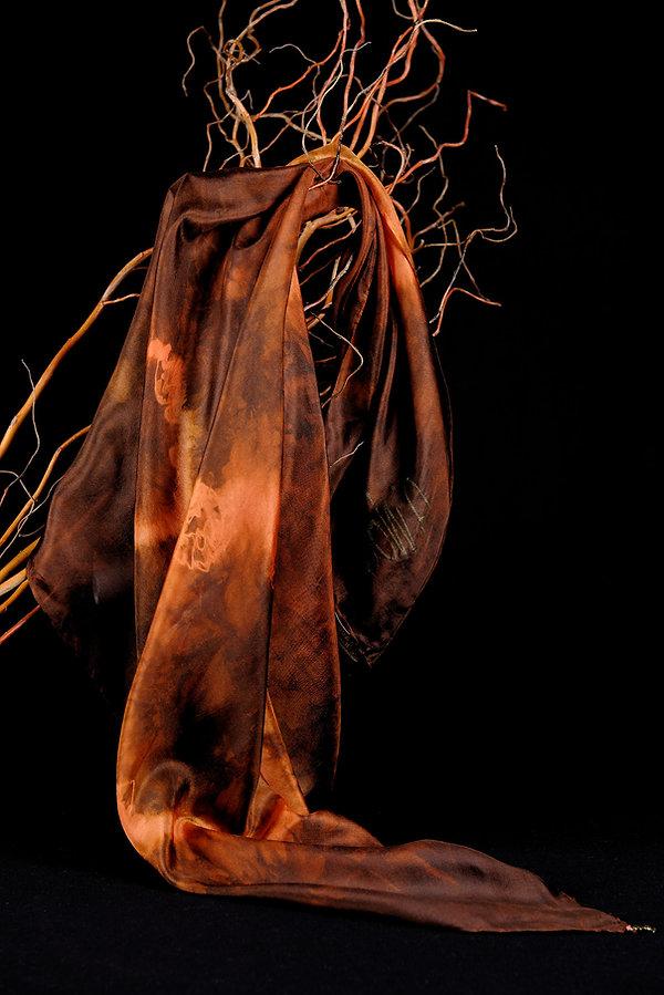 Batik, soie, silk, foulard, Anna Wode