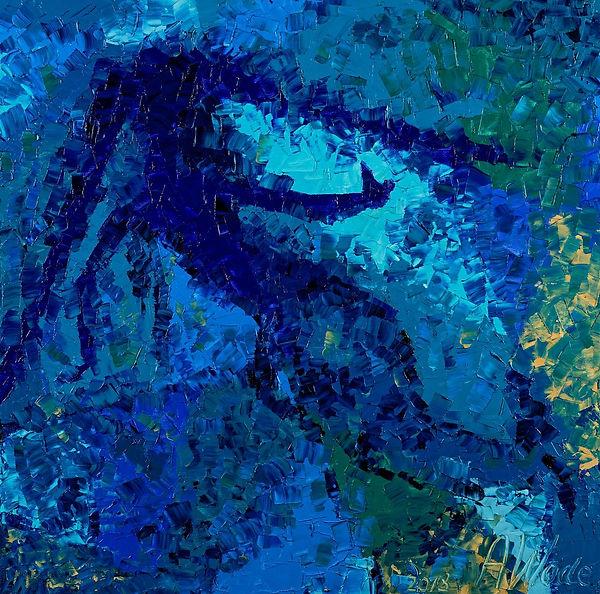 Anna Wode, blue line, Sirène quadrtique, bleu