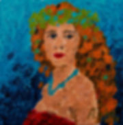 Anna Wode peinture painting art autoportrait