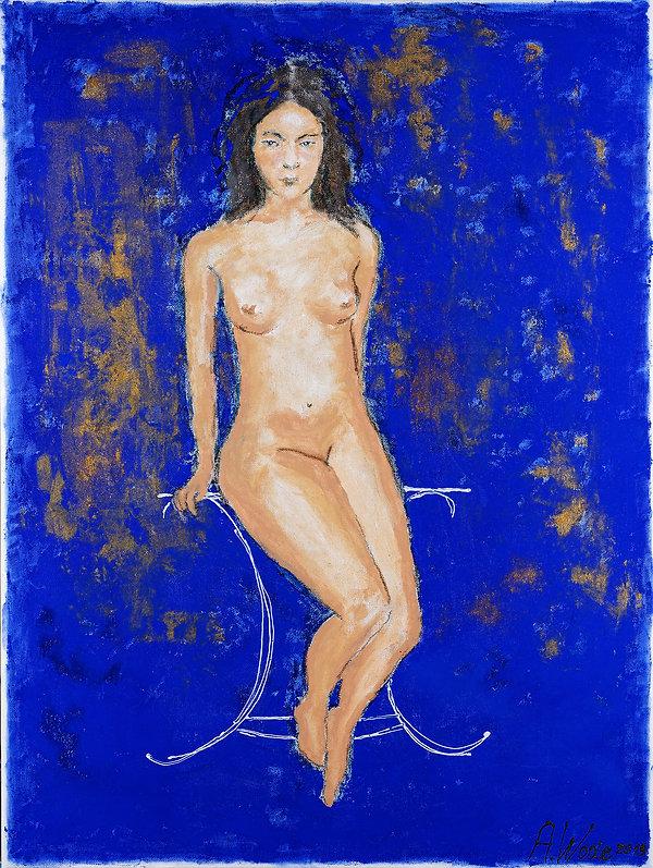 Sitting nude - bleu .jpg