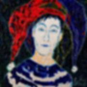 Anna Wode, art, contemporain, contemporary, Le clown, Kunst, mixte