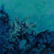 Anna Wode, Jardin marin, Bild, peinture, painting, corail, blue, bleu, blue line