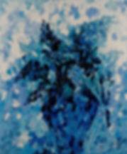 Anna Wode, Lilas, art, contemporary, bleu, blue