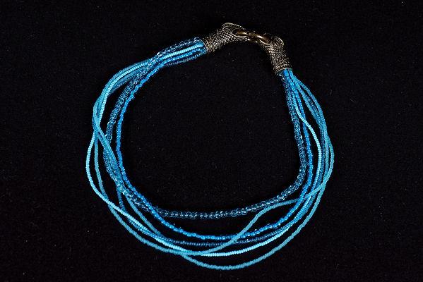 Collier, bijoux fantesie, jewellery, snake, serpent, Anna Wode