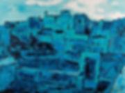 Anna Wode, Barceone bleu, blue, contemprary, art