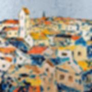 Anna Wode, art, contemporary, contemporain, Toits, mixte line
