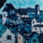 Anna Wode, tois, blue,bleu, art, contemporary