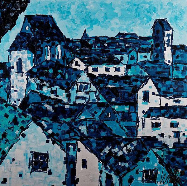 Anna Wode, tois, blue,bleu, art, contemporary