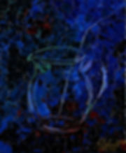 Anna Wode, painting,peinture, Bild, blue, blau, Krug, cruche