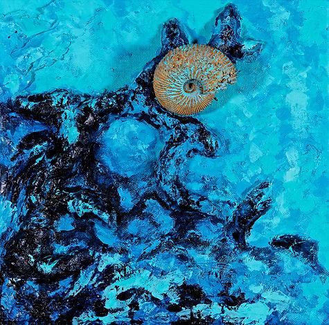 Fossile bleu, Anna Wode, art, Kunst, blue line