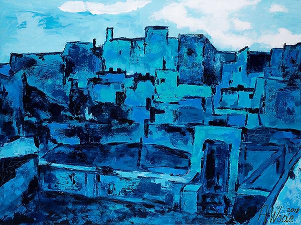 Toits de Barcelone, inspiration Picasso.