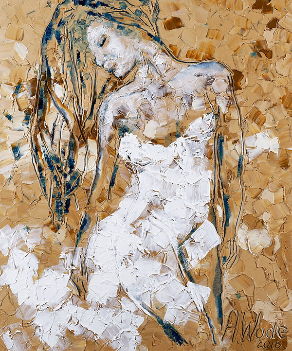 White bride, Anna Wode, art, Kunst