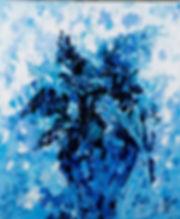 Lilas, Anna Wode, art, Kunst, blue line