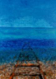 railway, sea, mer, chemin de fer, Anna Wode