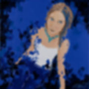 Autoportrait en bleu.jpg, Anna Wode, artist, painting, art, contemporary, Kunst