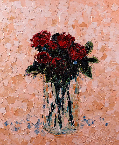Anna Wode, art, contemporary, contemporain, Roses, Kunst, mixt