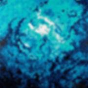Anna Wode, bleu, blue, Ombres, art, contemporary