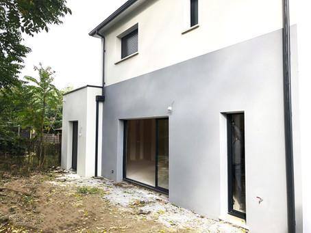 Suivi de chantier, maison de ville à Cenon (33150).