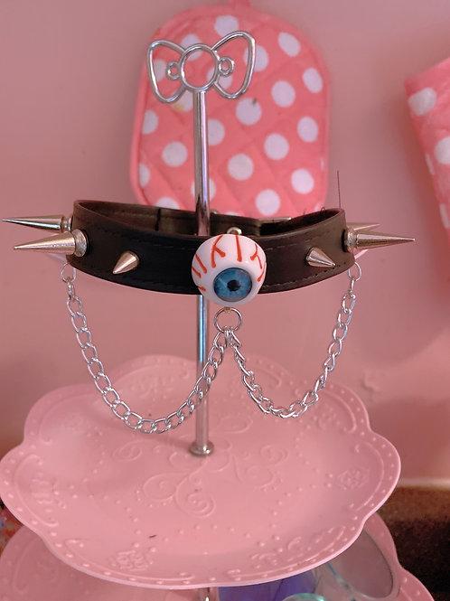 Eyeball Choker With Chain