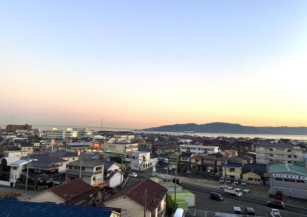 あさひ病院からの景色(夕方)