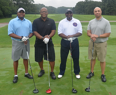 4 African American male golfers