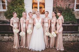 Bride and bride tribe Chilston park hotel