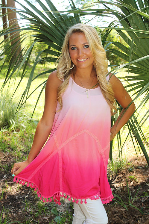 PINK FLAMINGO TUNIC TOP