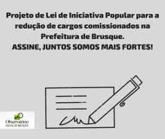 OSB agora possui parceiros para a coleta de assinaturas do Projeto de Lei de Iniciativa Popular