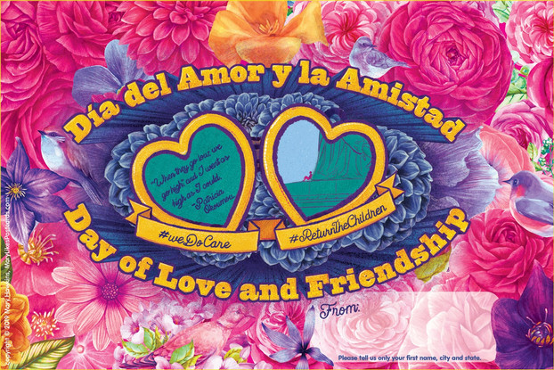 Artist Spotlight: Dia Del Amor Y La Amistad postcards for migrant children