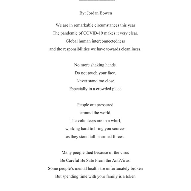 JORDAN BOWEN / The Anti-Virus, 2020