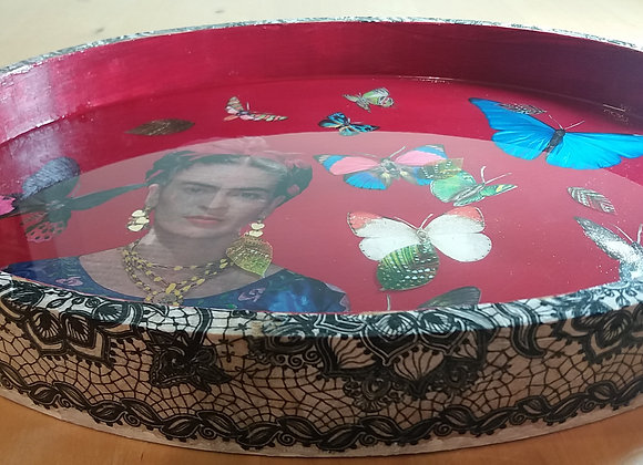 Frida passion tray with butterflies