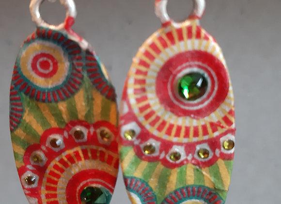 Ethnic Silver Earrings Millonga Collection E5