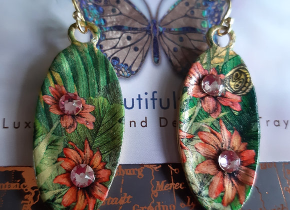 Floral Gold Earrings Millonga Collection E1